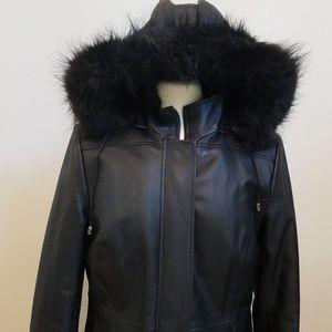 Croft&Barrow leather coat. Size medium